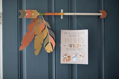 Entrance + Door Sign from a Woodland Animal Birthday Party via Kara's Party Ideas KarasPartyIdeas.com (18)