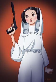 Princess Leia by pungang on DeviantArt