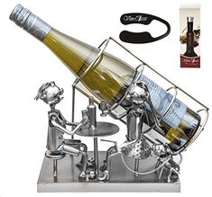 Fabulous Couple Siting At the Table with Wine , Wine Bottle Holder Plus a Wine Foil Cutter and a Wine Bottle Vacuum Stopper Upscale Innovations http://www.amazon.com/dp/B00TT5MLHW/ref=cm_sw_r_pi_dp_CRjnvb134490S