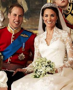 The Duke and Duchess of Cambridge close up.