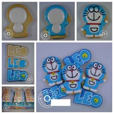Royal icing Galletas Doraemon cookie how to make him