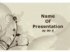 Plantilla Powerpoint de Diapositiva Fondo marrón floral
