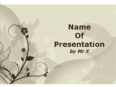 Brown Floral Background Powerpoint Template