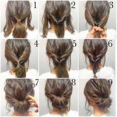 Top 10 Messy Updo Tutorials For Different Hair Lengths Easy, hope this works out quick morning hair! Top 10 Messy Updo Tutorials For Different Hair Lengths Easy, hope this works out quick morning hair! Medium Hair Styles, Curly Hair Styles, Hair Styles Work, Medium Hair Wedding Styles, Pretty Hairstyles, Work Hairstyles, Hairstyles 2018, Short Hair Ponytail Hairstyles, Date Night Hairstyles