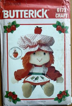 Vintage Sewing Pattern Butterick 6173 - Strawberry Shortcake Doll & Clothes (1983) - UNCUT