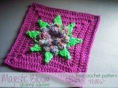 Majestic Square - Free Crochet Pattern -- Review