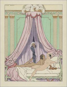 La double maîtresse par Henri de Régnier. A. et G. Mornay, Paris, 1928. Illustrations par Georges Barbier.