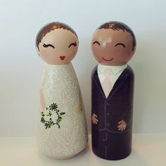 Items similar to Hand Painted Love Boxes Custom Wedding Bride Groom Cake Topper Peg Doll Wood on Etsy Wood Peg Dolls, Bride Groom, Wedding Bride, Custom Wedding Cake Toppers, Doll Crafts, Custom Boxes, Little People, Etsy Seller, Christmas Decorations