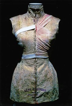 Martin Margiela, garment covered in mold, made for 9/4/1615 installation at Brooklyn Anchorage, New York, 1999, originally created for Museum Boijmans Van Beuningen, Rotterdam, 1997    Photography: William Palmer
