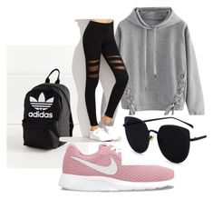 """""""sportswear"""" by efsi on Polyvore featuring adidas, WithChic and NIKE"""