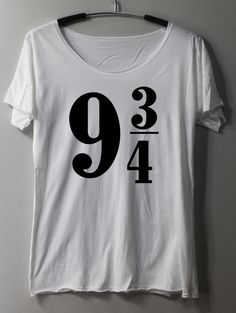 Platform 9 3/4 Shirt Sign Harry Potter Shirts TShirt T Shirt Tee Shirts - Size S M L