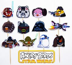 Hey, I found this really awesome Etsy listing at https://www.etsy.com/listing/158554114/12-angry-birds-star-wars-birthday-party