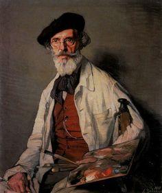 """er mundo de manué"": Ignacio ZULOAGA y Zabaleta; obras, cuadros pinturas, El pintor Pablo Uranga. 1931. Óleo sobre lienzo. 106 x 90,5 cm."