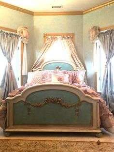 Painted Cottage Romantic French Bed BD745 by paintedcottages