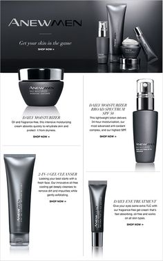 #Avon ANEW Men Skin Care line. Have the men in your wedding look their best. #Weddings