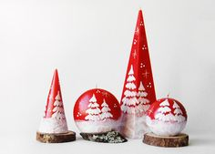 Christmas Candles Set  White Christmas Trees Christmas Gifts Christmas Party Decor