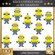 Little Henchmen Clipart - great clipart for birthday invitations and creative projects.
