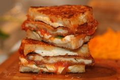 Chicken Parm Grilled Cheese--looks delicious!