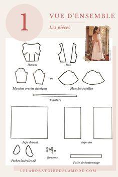 Comment j'ai cousu la robe Odalie de chez Sézane ? Tous les détails sur LELABORATOIREDELAMODE.COM #sezane #sezanelike #couturedebutant #dosnu #summerdress #seeitsewit #frenchstyle