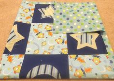 Space Baby Blanket Quilted Rocket Stars by HollyHomemadeGoodies, $40.00