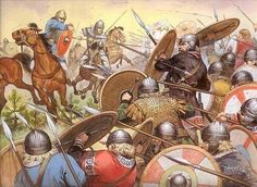 871 King Ethelred of Wessex and his brother Alfred (the Great) defeated the Danish Vikings at the Battle of Ashdown.
