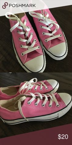 Adorable Pink Converse Shoes Barely worn pink Converse shoes. EUC Converse Shoes Athletic Shoes