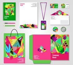 Conjunto de plantillas de identidad corporativa floral vector gratuito Corporate Flyer, Corporate Design, Corporate Identity, Leaflet Template, Banner Template, Templates, Free Brochure, Creative Brochure, Geometric Background