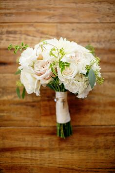 Beautiful bouquet ideas. View the full wedding here: http://thedailywedding.com/2016/07/17/stunning-lake-wedding-kelly-jesse/