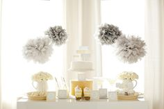 """9 Gender Neutral Themes for a Baby Shower or Gender Reveal Party, #7: Yellow and Gray Theme. (Although...does """"yellow and grey"""" count as a theme?  I thought that was more of a color palette.) #baby #babyshower"""