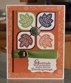 Handmade Thanksgiving Card using Stampin Up. $4.00, via Etsy.