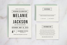 Wedding Invitation Template Suite by Hitch Paper Co. on @creativemarket