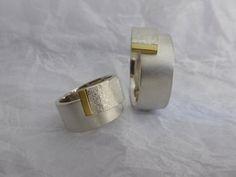 Trauringe mit Struktur 12mm 925 Silber von schmucke sachen traut