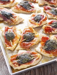 Pan Sheet Chicken Saltimbocca