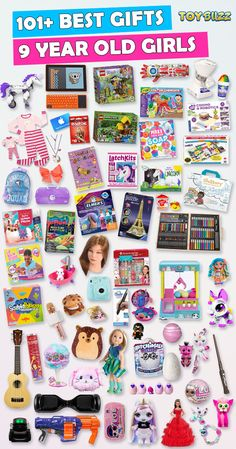 Browse our Christmas Gift Guide For Kids with Best Gifts For Girls. Discover educational toys, unique toys, kids games, kids books, and more for your 9 year old girl. Make her Christmas extra magical with these delightful gifts she'll love!