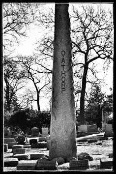 O.A. Thorp Obelisk at Mount Olive Cemetery in Chicago