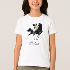 Mulan and Khan T-Shirt - click/tap to personalize and buy Fitness Models, Princess, Disney, Casual, Fabric, Sleeves, Cotton, T Shirt, How To Wear