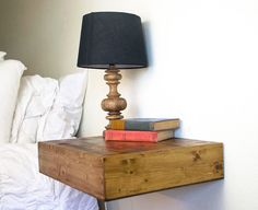 Set of 2 Floating Nightstands Wooden Floating by MintageDesigns