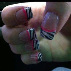 My zebra print nails