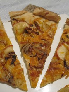 Apple Cheddar Pizza with Caramelized Onions and Walnuts