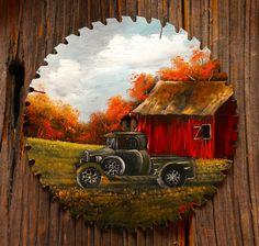 Old Green Truck Round Blade 7-8″
