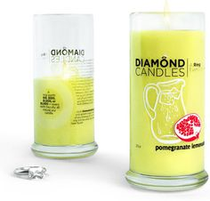 """Like many of you, we just can't get enough of the luscious pomegranate lemonade candle, so we're on the search for a refreshing beverage to fulfill our cravings. With that said, you may now be craving your own Pomegranate Lemonade candle.  We're happy to give you the chance to win one for yourself for this """"Thirsty Thursday Giveaway""""!  Delightful, huh? Repin this and enter at http://blog.diamondcandles.com/thirsty-thursday-giveaway-1/ by midnight tonight for your chance to win."""