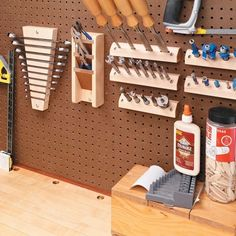 Oh to be organized http://www.woodsmithtips.com/2013/03/14/custom-pegboard-tool-holders/?utm_source=WoodsmithTips_medium=email_campaign=6884