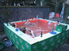 More of a fratboy swimming pool. If it were Pabst or Busch, it would be redneck.