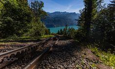 Triple tracks - Railroad Tracks, Travel Photography, Mountains, Nature, Naturaleza, Nature Illustration, Outdoors, Bergen, Train Tracks