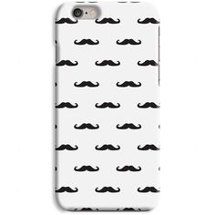 Moustache White iPhone Case Plastic Snap Case iPhone 6 6 Plus iPhone 5... ($9.42) ❤ liked on Polyvore featuring accessories, tech accessories, iphone cover case, white iphone case, iphone cases, iphone sleeve case and apple iphone cases