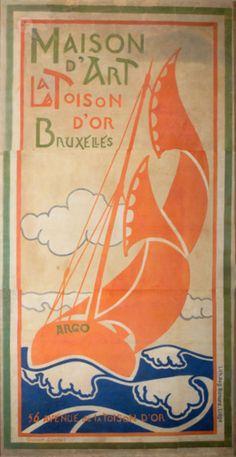 Affiche van Gisbert Combaz Maison d'Art