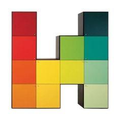PAESAGGI ITALIANI cabinet double face room divider by Edra - design Massimo Marozzi