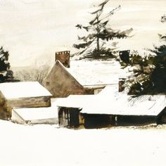 """Andrew Wyeth - his technique of leaving the white of the paper as a """"color"""" is a serious matter all watercolorists should take note of. Amazing."""