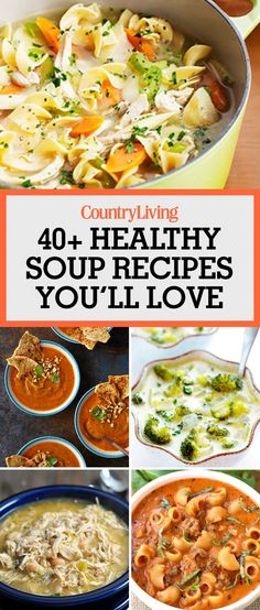 These healthy soup recipes make getting dinner on the table a cinch. Mix up your usual pasta dinner by serving noodles in this beefy tomato soup. Heat up your weeknight with a spiced sweet potato-and-peanut puree that the whole family will love this fall!