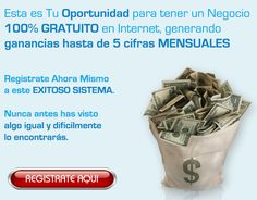 No pierdas más tiempo y comienza a ganar dinero ahora con el sistema que está revolucionando Internet... Regístrate gratis desde el siguiente enlace: http://gananciaz.com/ganardinero/masimo